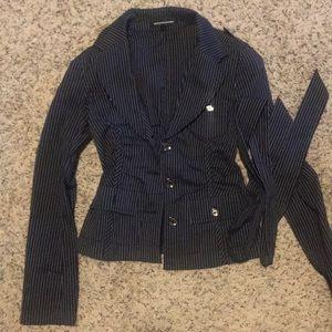 Express blazer with belt